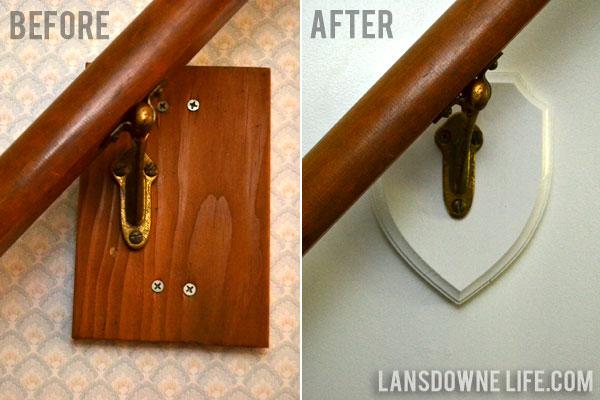 Stairway banister bracket