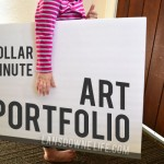 Quick and easy DIY: $2 kids artwork portfolio