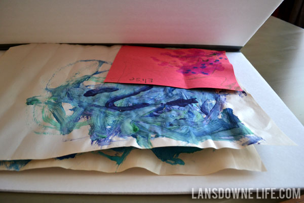 Quick and easy DIY kid's art portfolio