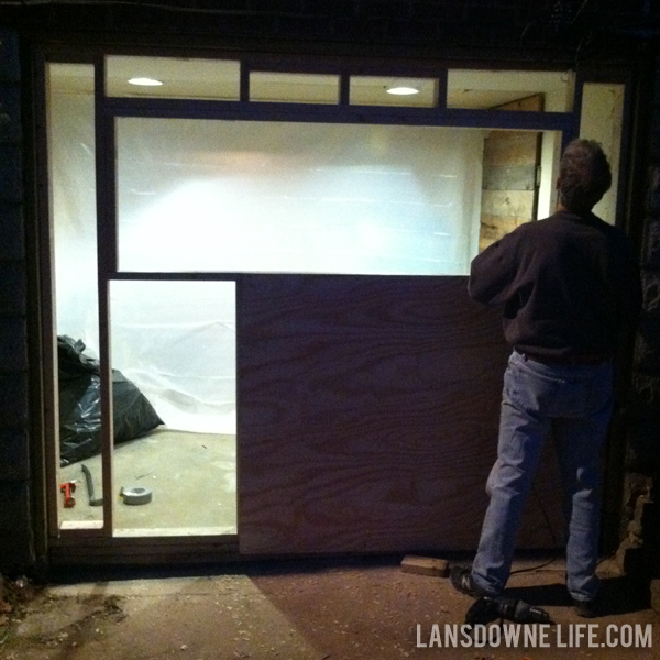 Perfect Replacing An Old Garage Door With A Wall