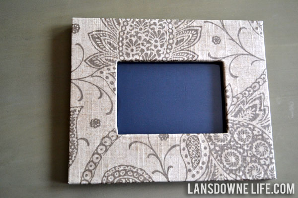 Fabric wrapped photo frame lansdowne life for Fabric picture frames