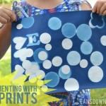 Summer craft: Experimenting with sunprints