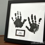 DIY kid hand print art