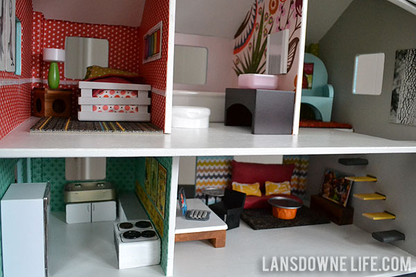 Modern Diy Dollhouse With Homemade Furniture Part 1 Of 6