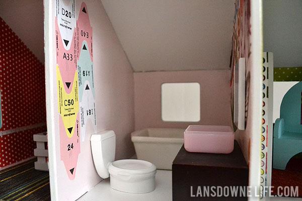 Diy bathroom furniture Sink Vanity Handmade Dollhouse Bathroom With Toilet Tub And Vanity Lansdowne Life Diy Dollhouse Bathroom Furniture part Of 6 Lansdowne Life