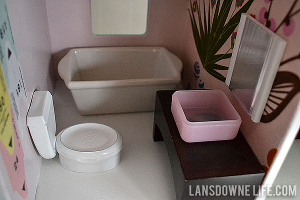 DIY dollhouse bathroom furniture