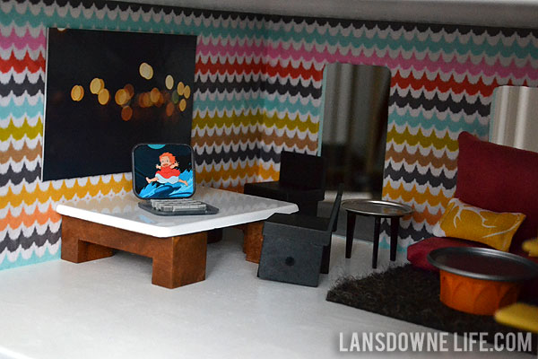 diy dollhouse: living room / dining room (part 2 of 6) - lansdowne