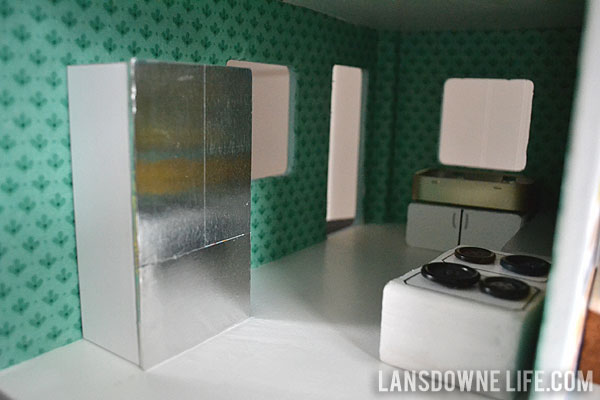 DIY furniture for a dollhouse kitchen