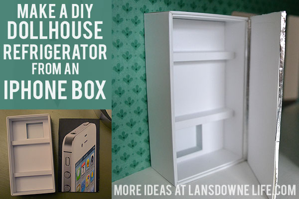 Make a DIY Dollhouse refrigerator from an iPhone box
