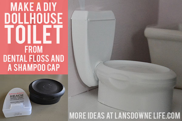 Make a DIY dollhouse toilet