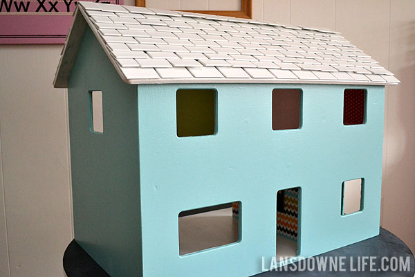 Dollhouse roof shingles