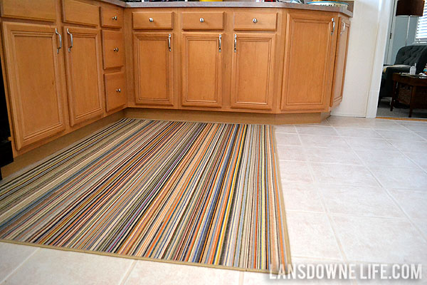 striped-kitchen-rug - Lansdowne Life