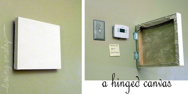 hinged canvas guest post from living analog lansdowne life