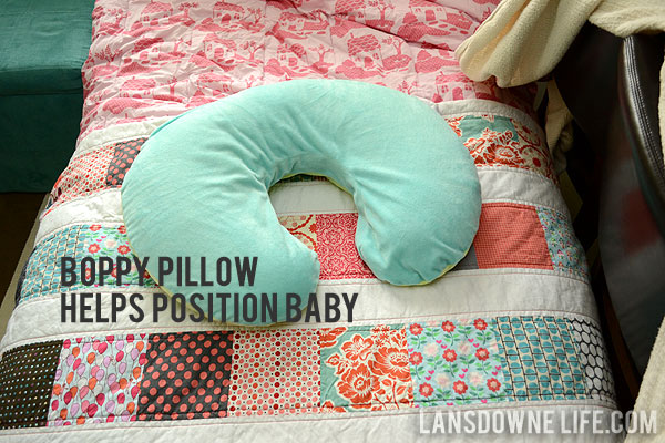 Newborn Photography Using Boppy Pillow