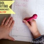 Preschool handwriting worksheet: FREE printable!