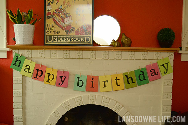 quick and easy happy birthday banner printable lansdowne life