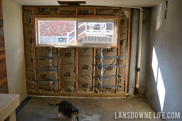 Replacing An Old Garage Door With A Wall Lansdowne Life