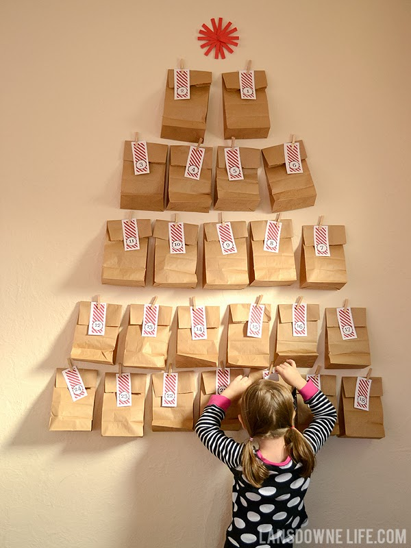 Advent Calendar Diy Ideas : Last minute diy advent calendar free printable number