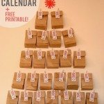 Last minute DIY advent calendar + FREE printable number tags!