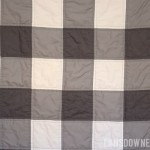 Gray and white gingham baby quilt