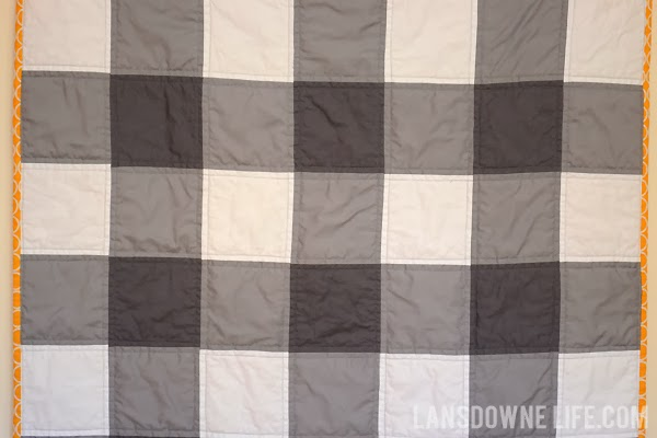 quilt gingham pattern blanket and toy baby gifts plaid tutorial