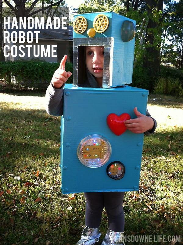 Handmade robot Halloween costume