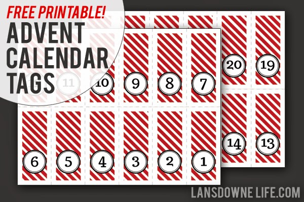 Last minute diy advent calendar free printable number tags last minute diy advent calendar free printable number tags saigontimesfo
