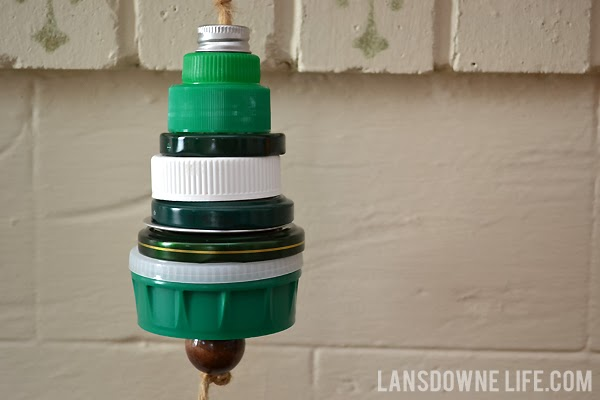 Upcycled Christmas tree ornament