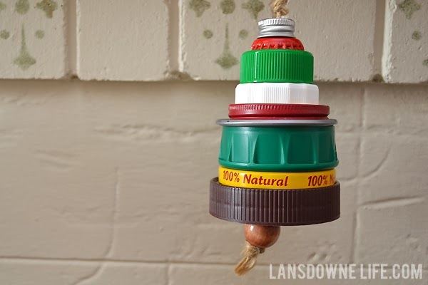 Upcycled Christmas tree ornaments