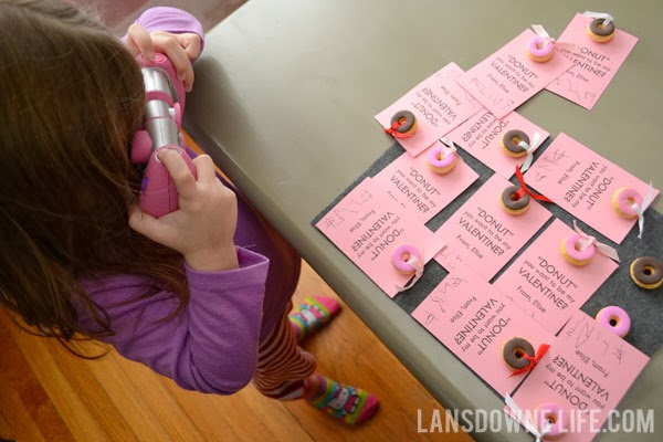 Handmade donut classroom exchange valentines