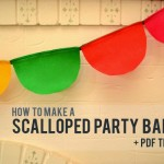 How to make a scalloped party banner + free template