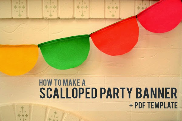 How To Make A Scalloped Party Banner Free Template Lansdowne Life