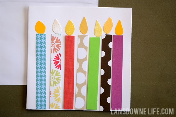 Birthday Candle Handmade Card