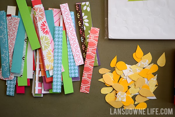 Paper Scraps For Making Greeting Cards