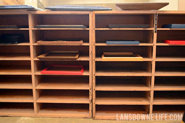 Shelves for drying paintings