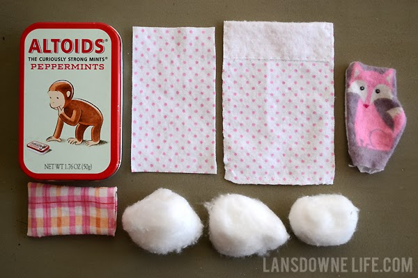 DIY Craft Kit For Kids Upcycled Altoids Tin Doll Bed