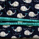 Baby boy whole cloth quilt (with whales!)