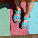 Summer kids craft: Painted stepping stones