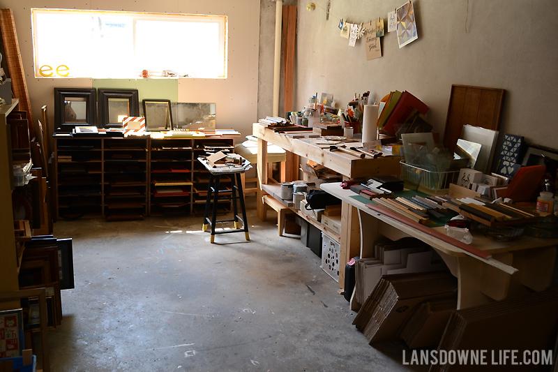 My home painting studio
