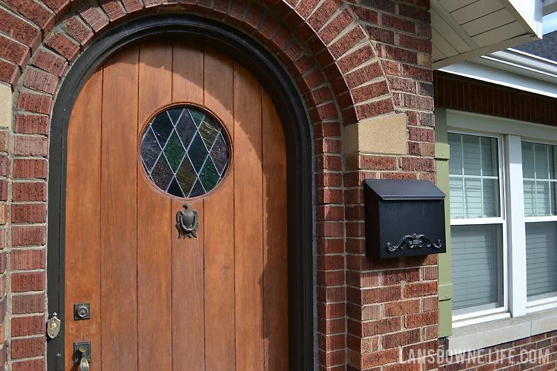 bronze-painted-door-frame