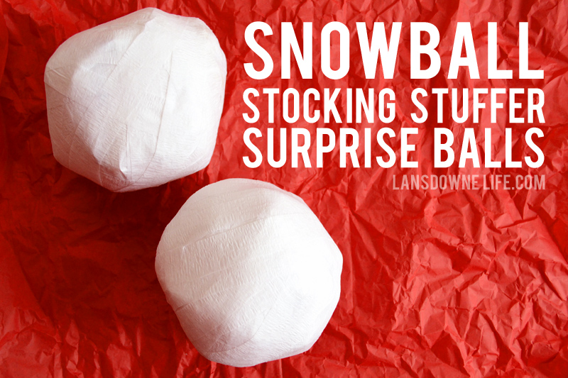 Snowball Stocking Stuffer Surprise Balls