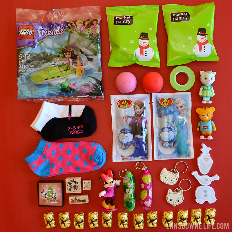 Stocking stuffer prizes for surprise ball