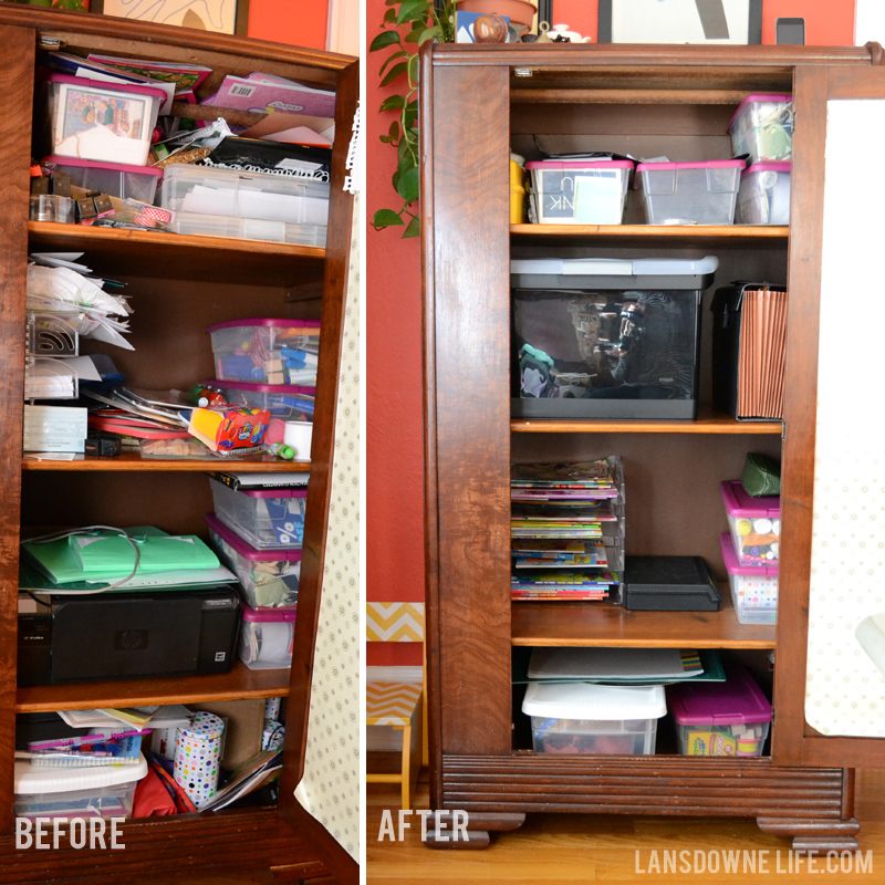 Before-After of wardrobe