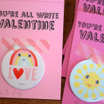 Notebook valentines with free printable