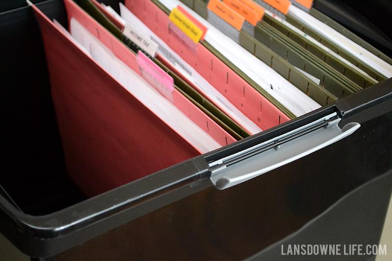 Plastic file folder storage box