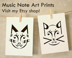 Music Note Art Prints - Visit my Etsy shop!