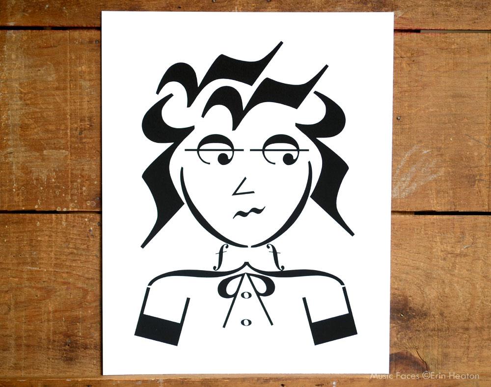 Music note art print by Erin Heaton