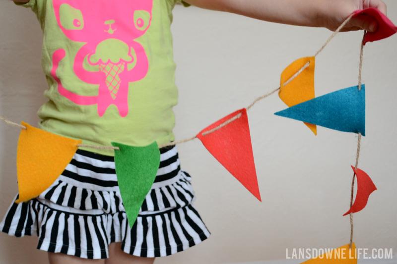 Felt Pennant Banner - DIY craft kit for kids
