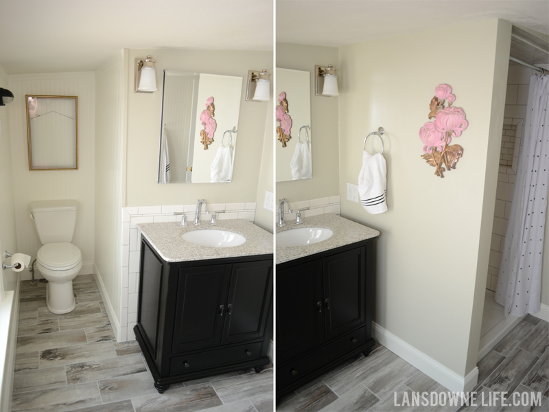 Final bathroom renovation update lansdowne life for How to update a bathroom without renovating