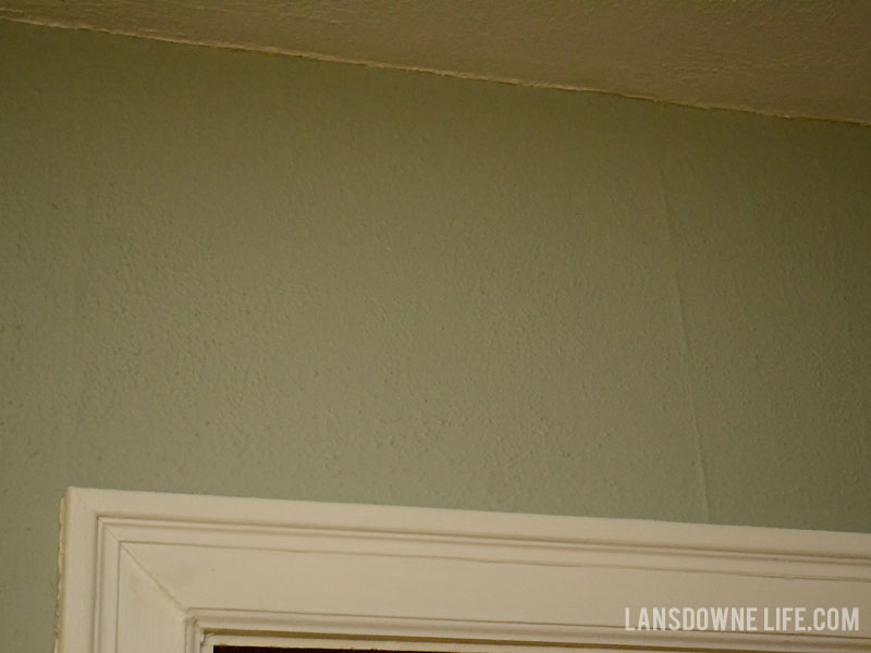 Seams showing through painted over wallpaper